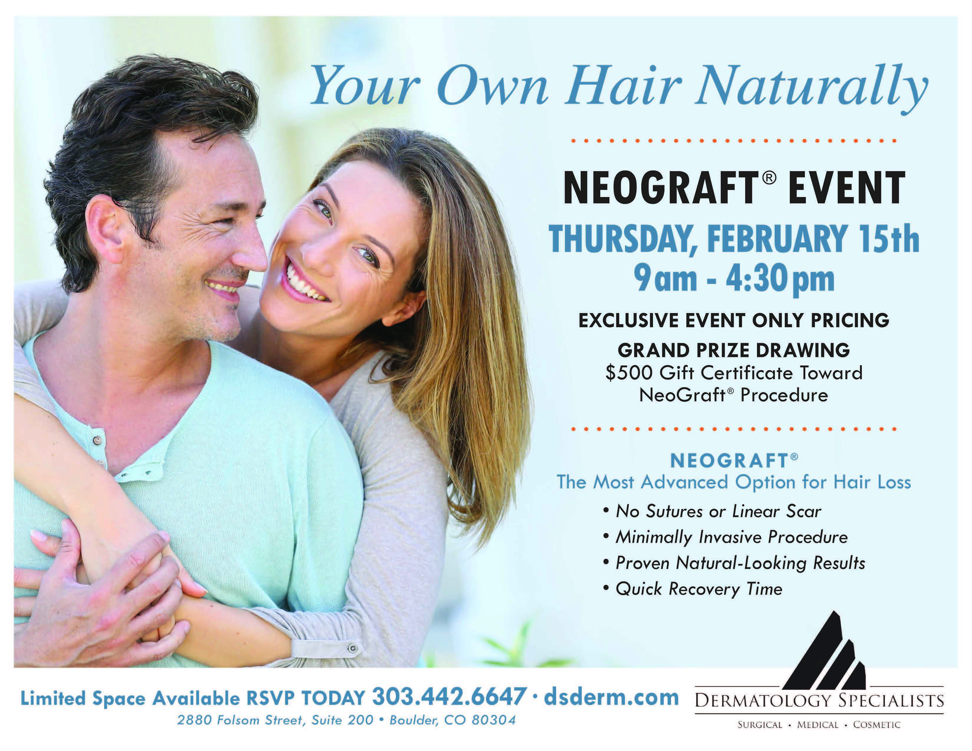 NEOGRAFT EVENT FLYER | Dermatology Specialists
